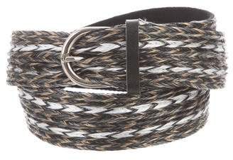 Isabel Marant Braided Straw Belt