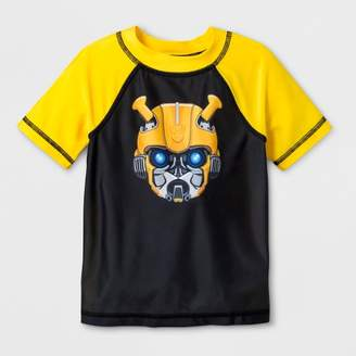 Transformers Toddler Boys' Bumblebee Rash Guard - Black