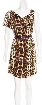 Just Cavalli One-Shoulder Mini Dress