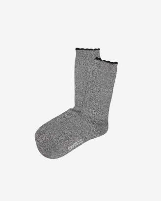 Express Super Soft Scalloped Socks