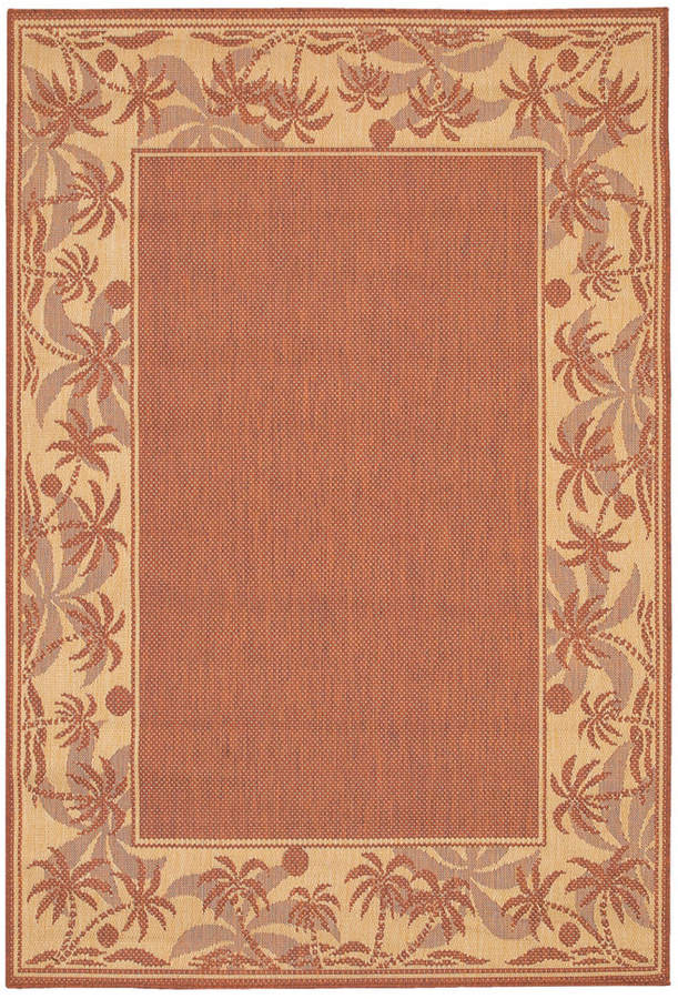 "Couristan Couristan Area Rug, Recife Indoor/Outdoor 1222/1122 Island Retreat Terra-Cotta-Natural 2' 3"" x 11' 9"" Runner"