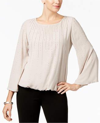 Alfani Petite Studded Angel-Sleeve Top, Created for Macy's