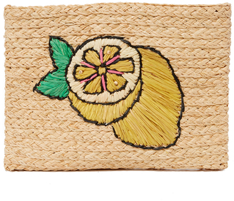 Hat Attack Embroidered Clutch $75 thestylecure.com