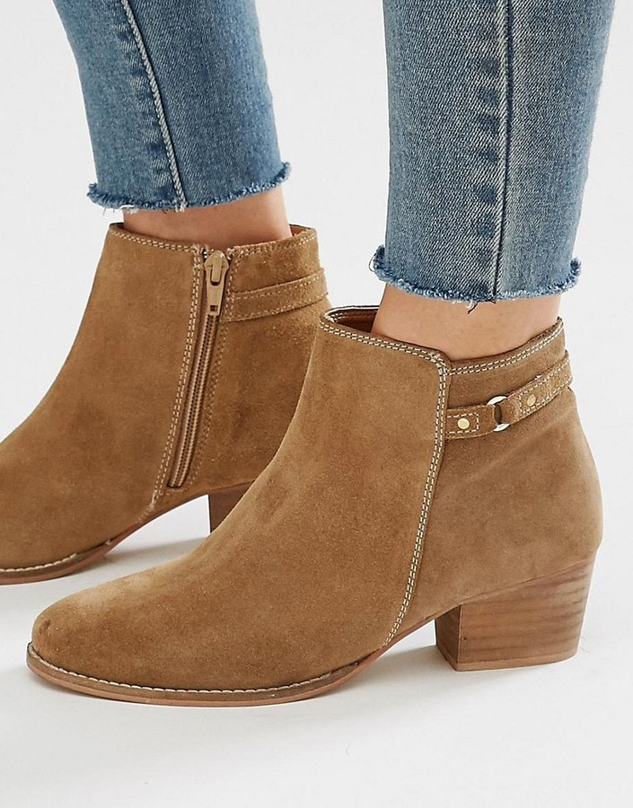 Oasis Sally Strap Short Boot Suede