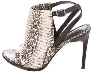 Rachel Zoe Lacey Snakeskin Sandals