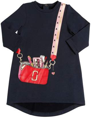 Little Marc Jacobs Bag Printed Cotton Sweatshirt Dress