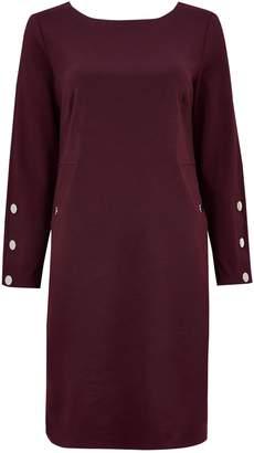 Next Womens Wallis Purple Stud Sleeve Ponte Shift Dress