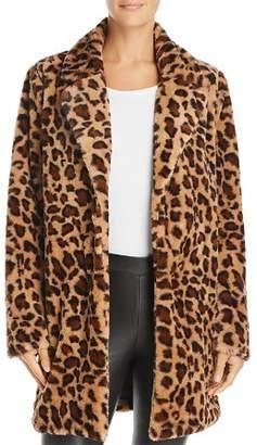 Re:Named Kimora Faux-Fur Leopard Coat