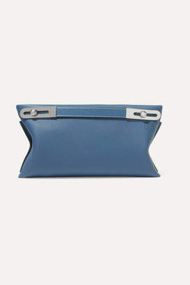 Loewe Missy Small Textured-leather Shoulder Bag - Blue