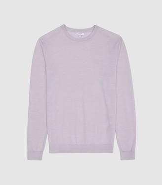 Reiss Wessex - Merino Wool Jumper in Pale Lilac