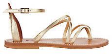 K. Jacques Epicure Metallic Gladiator Sandals