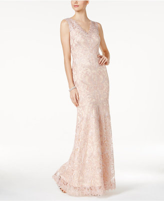 Tadashi Shoji Embroidered Tulle Gown $538 thestylecure.com