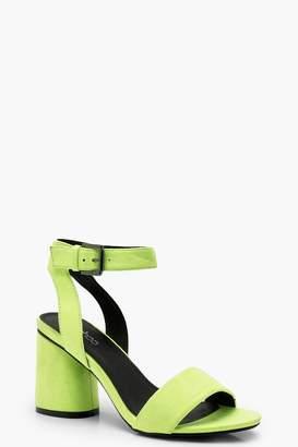 boohoo Cylinder Heel Sandals