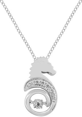 ENCHANTED .COM FINE JEWELRY BY DISNEY Enchanted Disney Fine Jewelry Womens Diamond Accent Genuine White Diamond Sterling Silver The Little Mermaid Pendant Necklace