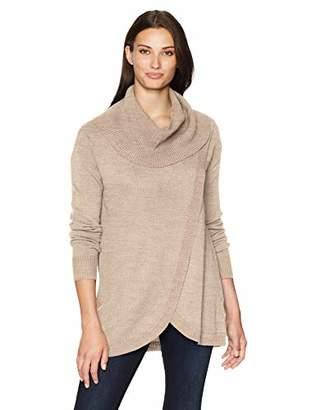 Napa Valley Women's Cashmerlon Cowl Neck Pullover Sweater