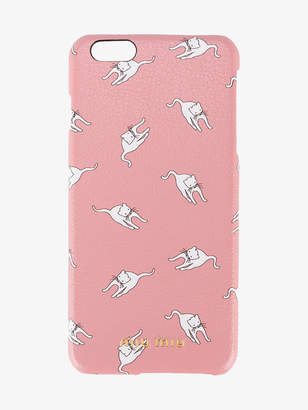 Miu Miu cat print iPhone 6 plus case