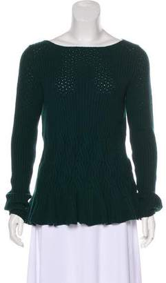 Oscar de la Renta Wool & Cashmere-Blend Knit Sweater w/ Tags