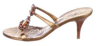 Giuseppe Zanotti Embellished T-Strap Sandals