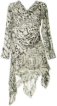 Roberto Cavalli cut-out asymmetrical dress