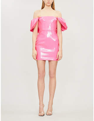 Alex Perry Elliot off-the-shoulder sequinned bodycon dress