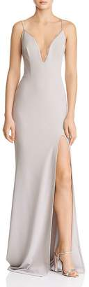 Katie May Plunging Crepe Gown