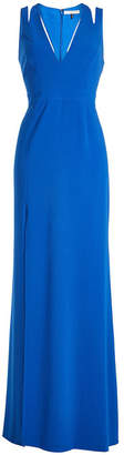 Halston Floor Length Gown with Cut-Out Detail