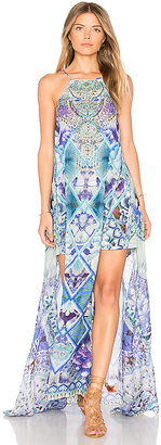 Camilla Long Sheer Overlay in Blue $700 thestylecure.com