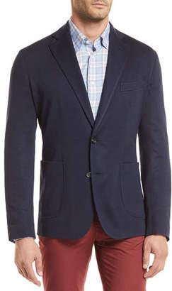 Brioni Silk-Blend Pique-Knit Blazer