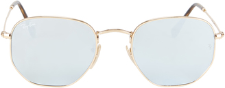 Ray-Ban Hex Metal Frame Sunglasses $175 thestylecure.com