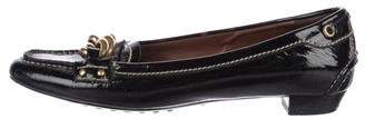 Car Shoe Patent Leather Flat Loafers