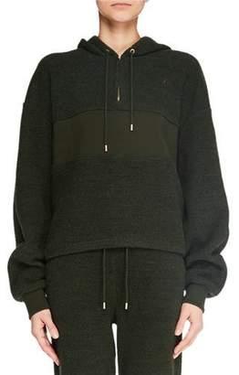 Carven Long-Sleeve Quarter-Zip Pullover Hoodie