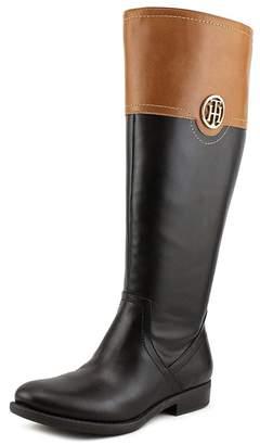 Tommy Hilfiger Silvan 2 Wide Calf Women US 6.5 Black Knee High Boot
