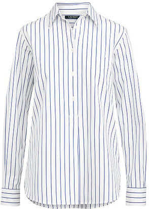 Ralph Lauren Lauren Striped Cotton Tunic $99.50 thestylecure.com