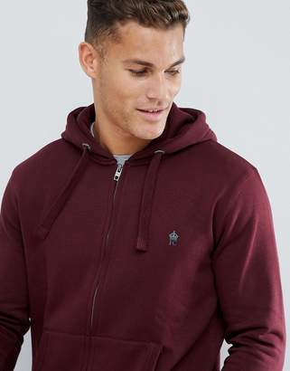 French Connection Basic Zip Through Logo hoodie