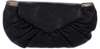 Lauren Merkin Embossed Leather Clutch