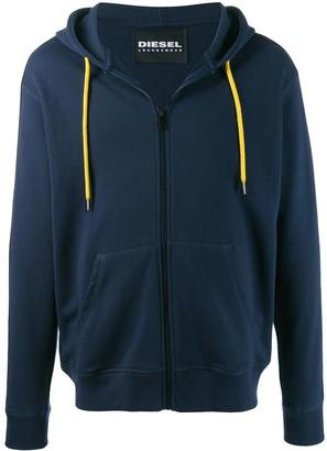 Diesel contrast string hoodie