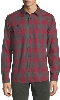 Jachs Ny Buffalo-Plaid Flannel Work Shirt