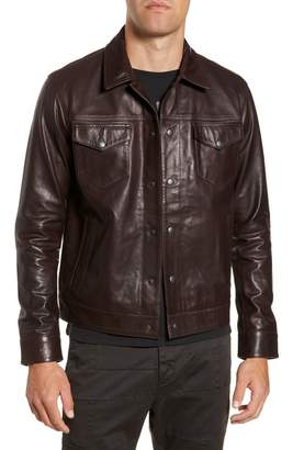 John Varvatos Tristan Leather Trucker Jacket