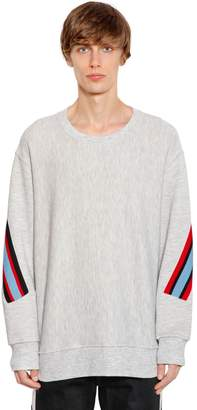 Facetasm Oversize Jersey Sweatshirt W/ Knit Bands