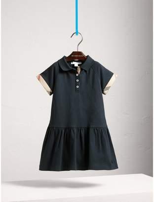 Burberry Dropped-waist Stretch Cotton Piqué Dress