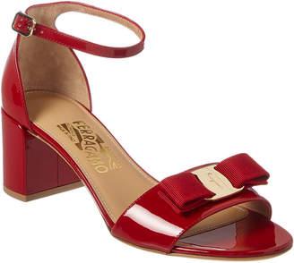 Salvatore Ferragamo Gavina Patent Ankle Strap Sandal
