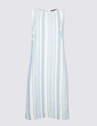 Marks and Spencer Linen Blend Striped Tunic Dress
