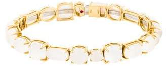Roberto Coin 18K Mother of Pearl & Milky Quartz Shanghai Bracelet