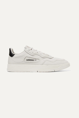 adidas Super Court Suede-trimmed Leather Sneakers - Off-white