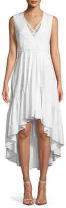 Elie Tahari Sondra V-Neck High-Low Dress