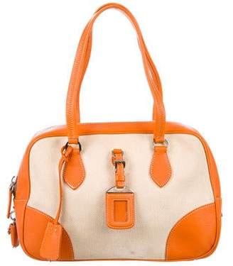 Prada Canapa & Cinghiale Bowler Bag