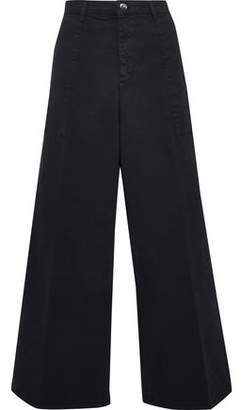 Vanessa Bruno Athe' Cropped Cotton-Blend Twill Wide-Leg Pants