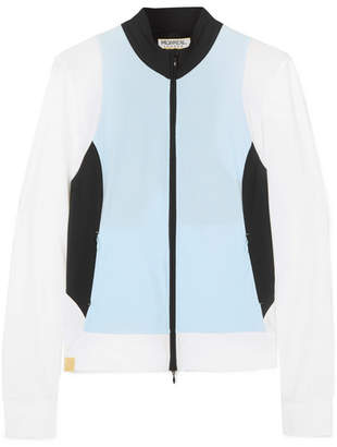 Monreal London Color-block Stretch Jacket - Sky blue