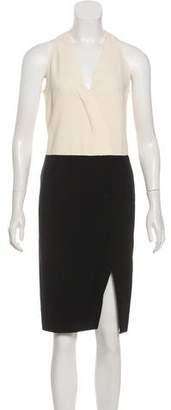 Cédric Charlier Colorblock Knee-Length Dress