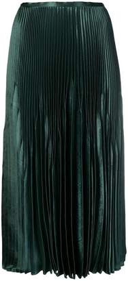 Vince high-waisted pleated skirt